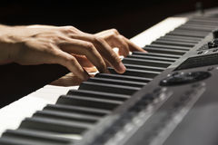 Piano hand Royalty Free Stock Images