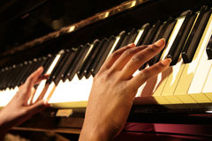 Piano Hands Stock Image