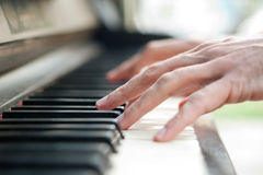 Piano and hands Royalty Free Stock Photos