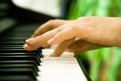 Piano hands  Stock Images