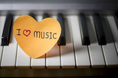Piano and heart Royalty Free Stock Photos