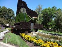 Piano hecho con la naturaleza Jardín botánico de Montreal Canadá fotos de archivo