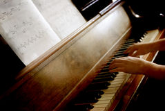 Piano in Home royalty free stock photo