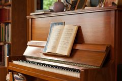Piano in the house Royalty Free Stock Image