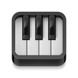 Piano icon Royalty Free Stock Photo