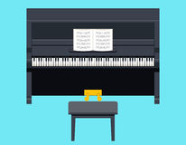 Piano Icon Concept Symbol Flat Design on Stylish Royalty Free Stock Photo
