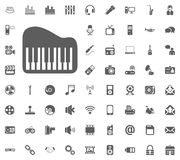 Piano icon. Media, Music and Communication vector illustration icon set. Set of universal icons. Set of 64 icons.  Stock Photography