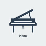 Piano icon. Silhouette vector icon Royalty Free Stock Photography