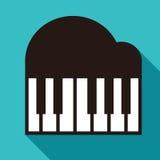 Piano icon. Synthesizer symbol isolated on white background royalty free illustration