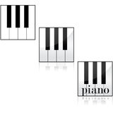 Piano icons Stock Photography