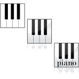 Piano icons Stock Photography