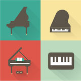 Piano icons Stock Photos