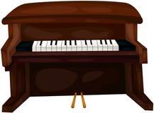Piano. Illustration of isolated piano on white background royalty free illustration