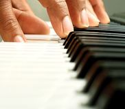 Piano. Image of a piano player in a concert Stock Photo