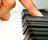 Piano. Image of a piano player in a concert Royalty Free Stock Photos