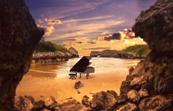 Piano In Nature Stock Photography