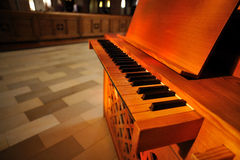 Piano inside the church Royalty Free Stock Image