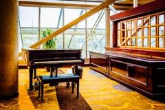 Piano inside the Hyatt Regency, in Baltimore, Maryland. Stock Photos