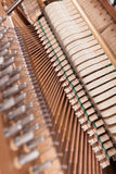 Piano. Inside of an old upright piano Royalty Free Stock Image