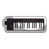 piano instrument isolated icon Royalty Free Stock Photos