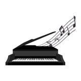 piano instrument isolated icon Stock Photos