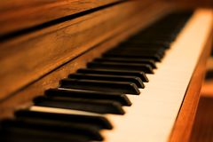 Piano Instrument for Playing Music Keys White and Black Stock Photo