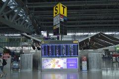 4° piano interno di vista dell'aeroporto di Suvarnabhumi Fotografia Stock Libera da Diritti
