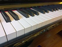 Piano. (Italian: forte) from Western classical music is a musical instrument. By 88 keys (52 white keys and 36 black keys) and metal string sound board. Wide royalty free stock images