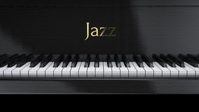 Piano jazz. Front view piano jazz music Stock Photography