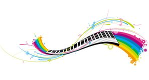 Piano key. Fashion ornament piano key pattern background Stock Photo