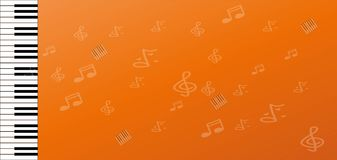 Piano key and Abstract Space for Music idea Background Stock Images