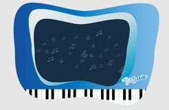 Piano key and Abstract Space for Music idea Background Stock Image