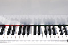 The piano key board Stock Image