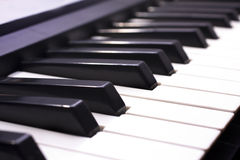 Piano Key close up shot Royalty Free Stock Images