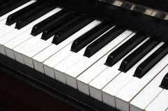 Piano Key close up shot Royalty Free Stock Photography