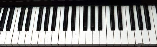 Piano Key close up shot Royalty Free Stock Photos