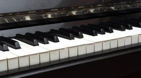 Piano Key close up shot Stock Images