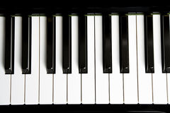 Piano Key. Close up shot Stock Photography