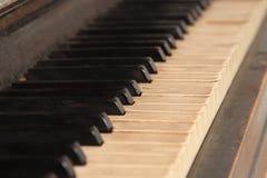 Piano key closeup Royalty Free Stock Photos