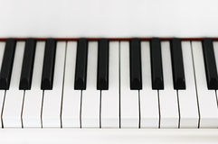 Piano key closeup Royalty Free Stock Image