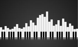 Piano key equalizer Royalty Free Stock Images