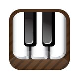 Piano key icon Royalty Free Stock Photo