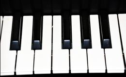 Piano Key Keyboard image template. Piano Key Keyboard black and white close up image template Royalty Free Stock Image