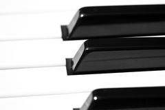 Piano key macro shoot Royalty Free Stock Photography