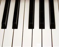 Piano Key Perspective. Horizontal piano keys Royalty Free Stock Photos