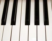Piano Key Perspective. Horizontal piano keys royalty free stock photos