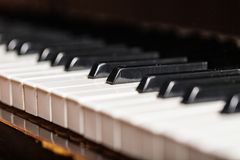 Piano key. Music education event black white indoors event Stock Photos