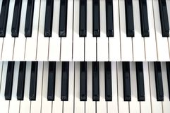 Piano key 2 row. Front view piano keys 2 row Royalty Free Stock Photos