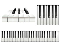 Piano key set Royalty Free Stock Photography