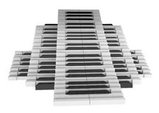 Piano Key Stairs. Several 3d piano key stairs, over white Royalty Free Stock Photos